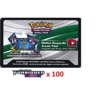 100 x Pokemon SM Forbidden Light Code TCGO Cards TCG Codes SENT WITHIN 12 HOURS