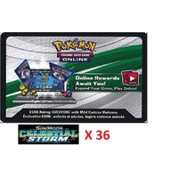 36 x Pokemon SM Celestial Storm Code TCGO Cards TCG Codes SENT WITHIN 12 HOURS