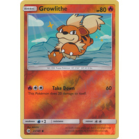 Growlithe 21/149 SM Base Set Reverse Holo Common Pokemon Card NEAR MINT TCG