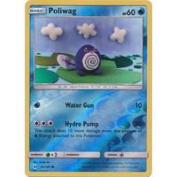 Poliwag 30/149 SM Base Set Reverse Holo Common Pokemon Card NEAR MINT TCG