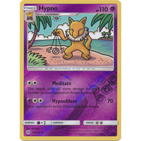 Hypno 60/149 SM Base Set Reverse Holo Uncommon Pokemon Card NEAR MINT TCG