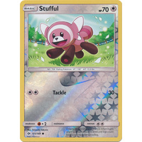 Stufful 111/149 SM Base Set Reverse Holo Common Pokemon Card NEAR MINT TCG