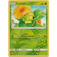 Caterpie 1/147 SM Burning Shadows Reverse Holo Common Pokemon Card NEAR MINT TCG