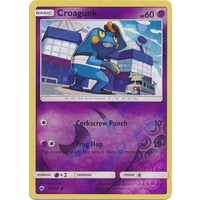 Croagunk 54/147 SM Burning Shadows Reverse Holo Common Pokemon Card NEAR MINT TCG