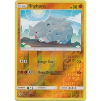Rhyhorn 65/147 SM Burning Shadows Reverse Holo Common Pokemon Card NEAR MINT TCG