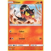 Litten SM08 Black Star Promo Pokemon Card NEAR MINT TCG