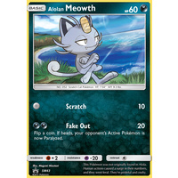 Alolan Meowth SM43 Black Star Promo Pokemon Card NEAR MINT TCG