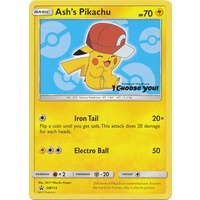 Ash's Pikachu SM113 Black Star Promo Pokemon Card NEAR MINT TCG
