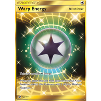 Warp Energy 123/111 SM Crimson Invasion Secret Rare Holo Pokemon Card MINT TCG