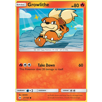 Growlithe 21/149 SM Base Set Common Pokemon Card NEAR MINT TCG
