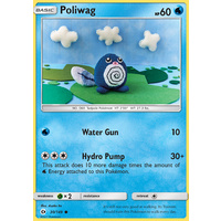 Poliwag 30/149 SM Base Set Common Pokemon Card MINT TCG