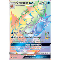 Gyarados GX 112/111 SM Crimson Invasion Hyper Rare Full Holo Pokemon Card