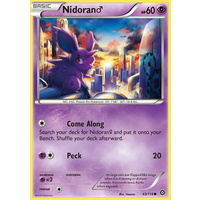 Nidoran 43/114 XY Steam Siege Common Pokemon Card NEAR MINT TCG