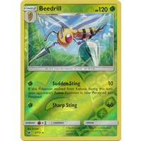 Beedrill 3/111 SM Crimson Invasion Reverse Holo Rare Pokemon Card MINT TCG