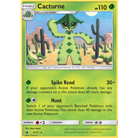 Cacturne 6/111 SM Crimson Invasion Rare Pokemon Card MINT TCG
