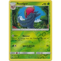 Accelgor 9/111 SM Crimson Invasion Reverse Holo Uncommon Pokemon Card MINT TCG