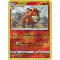Camerupt 14/111 SM Crimson Invasion Reverse Holo Rare Pokemon Card MINT TCG