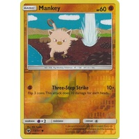Mankey 50/111 SM Crimson Invasion Reverse Holo Common Pokemon Card MINT TCG