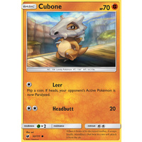 Cubone 52/111 SM Crimson Invasion Common Pokemon Card MINT TCG