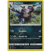 Zweilous 61/111 SM Crimson Invasion Reverse Holo Uncommon Pokemon Card MINT TCG
