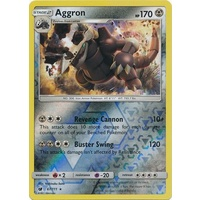 Aggron 67/111 SM Crimson Invasion Reverse Holo Rare Pokemon Card MINT TCG