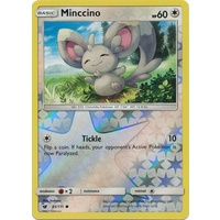 Minccino 85/111 SM Crimson Invasion Reverse Holo Common Pokemon Card MINT TCG