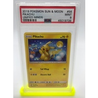 PSA 9 Pikachu 2019 Pokemon Sun & Moon Unified Minds 56