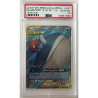 PSA 10 GEM MINT MAGIKARP WAILORD GX FULL ART TEAM UP 160 POKEMON CARD