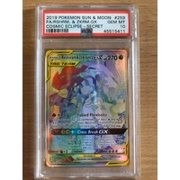 PSA GEM MINT 10 Reshiram & Zekrom GX Secret 2019 Pokemon Sun & Moon Cosmic Eclipse 259 Full Art