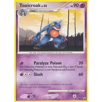 Toxicroak 31/100 DP Majestic Dawn Rare Pokemon Card NEAR MINT TCG