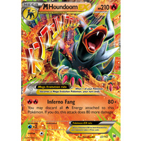 Mega Houndoom EX 22/162 XY Breakthrough Ultra Rare Holo Pokemon Card MINT TCG