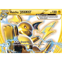 Raichu Break 50/162 XY Breakthrough Ultra Rare Holo Pokemon Card MINT TCG