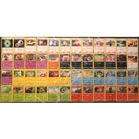 Pokemon Sun and Moon Shining Legends Complete Common/Uncommon set MINT TCG