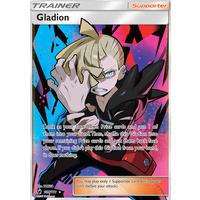 Gladion 109/111 SM Crimson Invasion Full Art Ultra Rare Holo Pokemon Card MINT