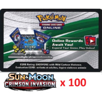 100 x Pokemon SM Crimson Invasion Code TCGO Cards TCG Codes SENT WITHIN 12 HOURS