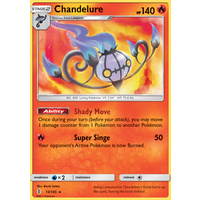 Chandelure 13/145 SM Guardians Rising Holo Rare Pokemon Card MINT TCG