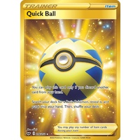 Quick Ball 216/202 SWSH Base Set Holo Secret Rare Full Art Pokemon Card NEAR MINT TCG
