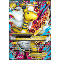 Mega Ampharos EX 88/98 XY Ancient Origins Holo Ultra Rare Full Art Pokemon Card NEAR MINT TCG