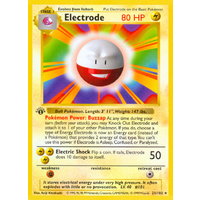 Electrode 21/102 Base Set 1st Edition Shadowless Rare Pokemon Card NEAR MINT TCG