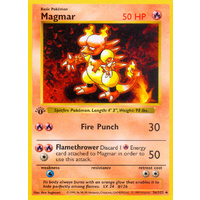 Magmar 36/102 Base Set 1st Edition Shadowless Uncommon Pokemon Card NEAR MINT TCG
