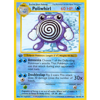 Poliwhirl 38/102 Base Set 1st Edition Shadowless Uncommon Pokemon Card NEAR MINT TCG