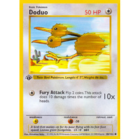 Doduo 48/102 Base Set 1st Edition Shadowless Common Pokemon Card NEAR MINT TCG