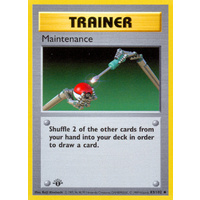 Maintenance 83/102 Base Set 1st Edition Shadowless Uncommon Trainer Pokemon Card NEAR MINT TCG