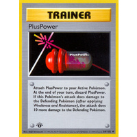 Pluspower 84/102 Base Set 1st Edition Shadowless Uncommon Trainer Pokemon Card NEAR MINT TCG
