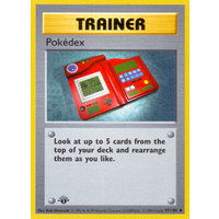 Pokedex 87/102 Base Set 1st Edition Shadowless Uncommon Trainer Pokemon Card NEAR MINT TCG