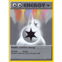 Double Colorless Energy 96/102 Base Set 1st Edition Shadowless Uncommon Pokemon Card NEAR MINT TCG