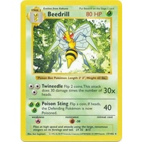 Beedrill 17/102 Base Set Shadowless Rare Pokemon Card NEAR MINT TCG