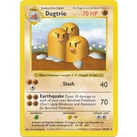 Dugtrio 19/102 Base Set Shadowless Rare Pokemon Card NEAR MINT TCG