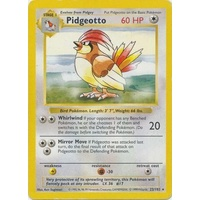 Pidgeotto 22/102 Base Set Shadowless Rare Pokemon Card NEAR MINT TCG