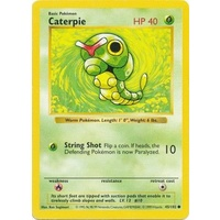 Caterpie 45/102 Base Set Shadowless Common Pokemon Card NEAR MINT TCG
